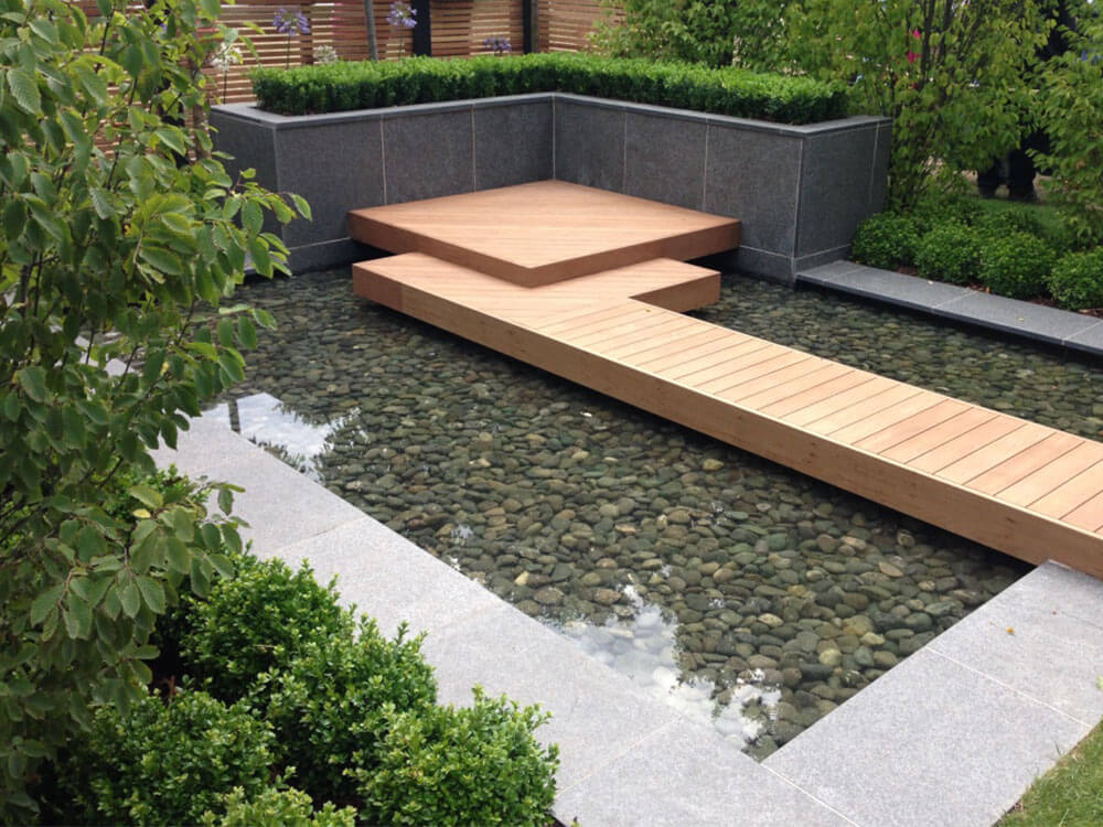 Captivating Pebble Pool Garden Images