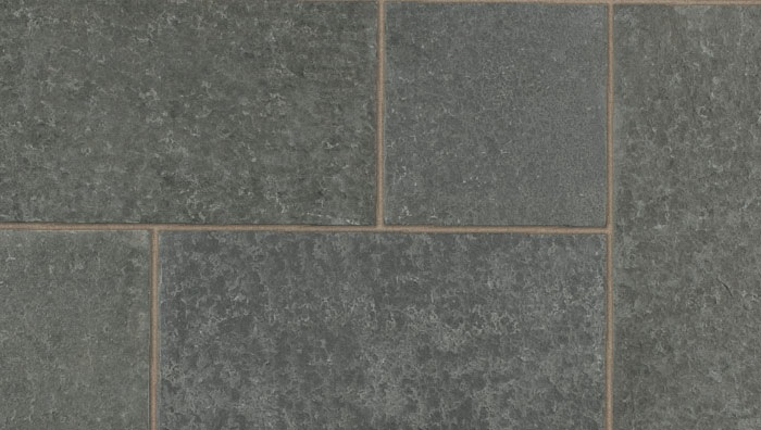 Dark grey granite paving ariel view