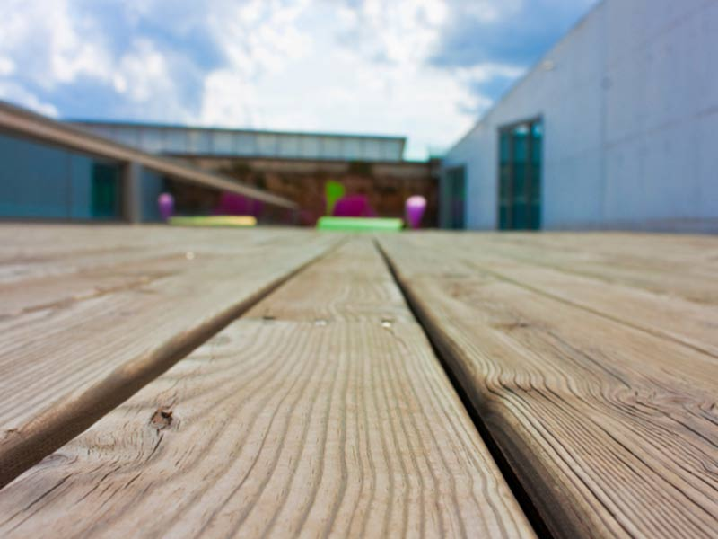 Softwood Decking close up angle