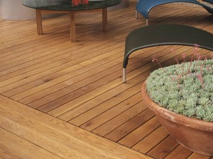 close up of Hardwood Decking