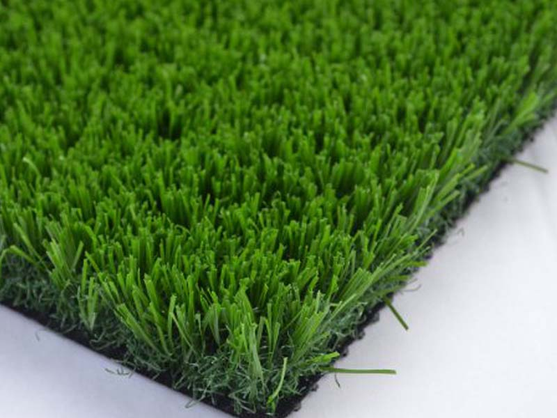 close up Synthetic Lawn grass blades