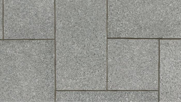 mid grey Granite paving, ariel view