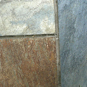 Rustic Slate texture in three colours of bronze sliver and grey blue