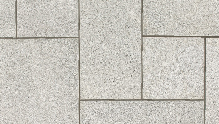 white-grey granite paving, view from above