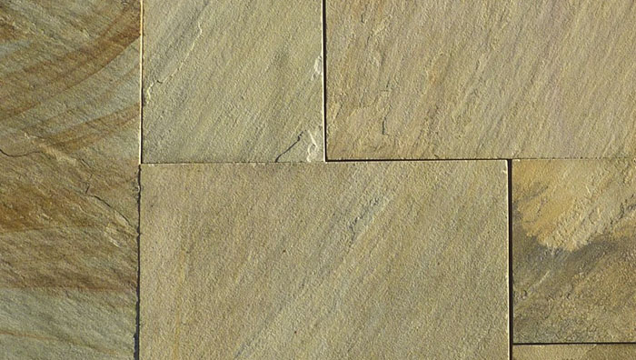 Yellow Sandstone paving slabs