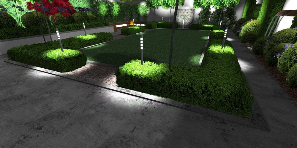 Lighting systems for Edwardian gardens