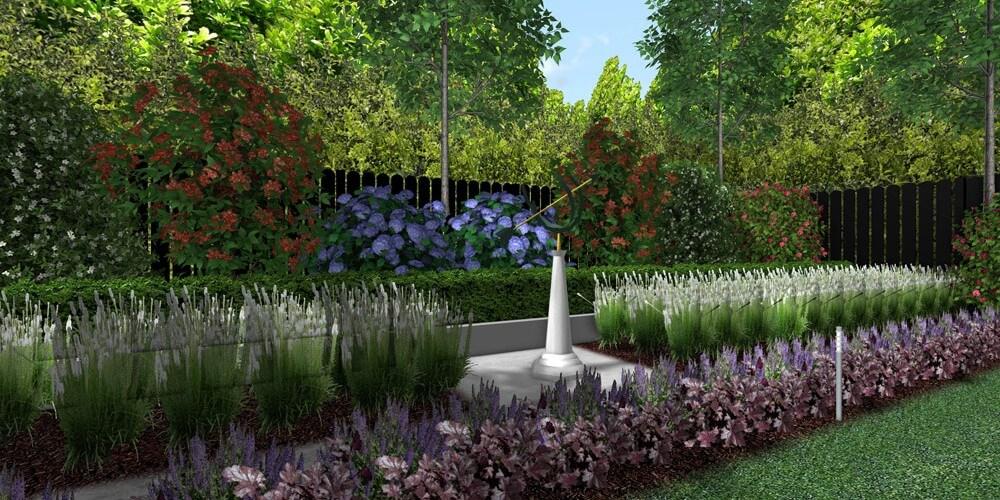 colourful modular garden