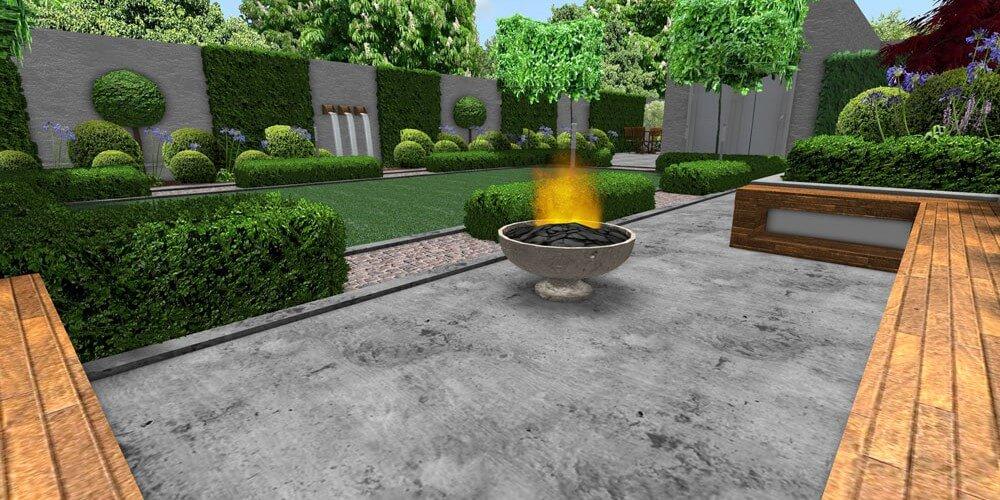 edwardian bold fire pit