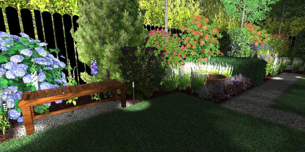 lighting systems for modular gardens