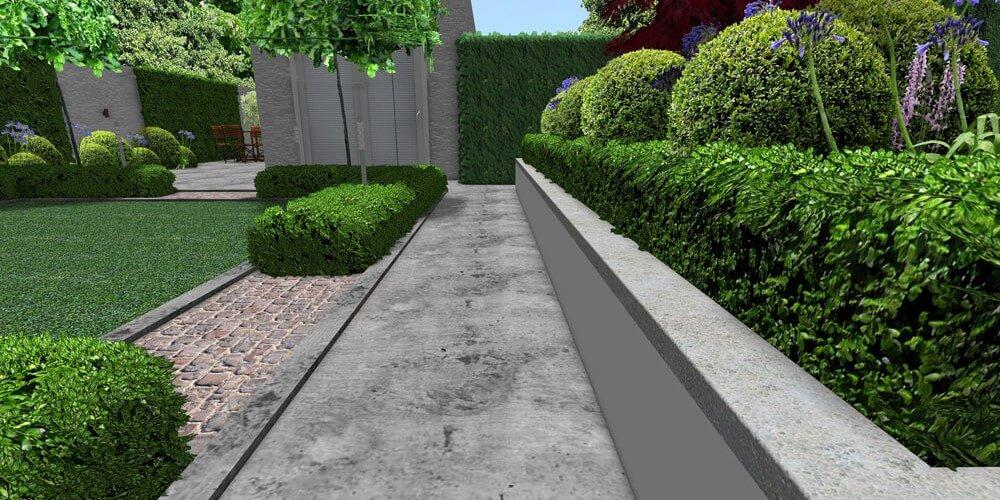 modern Edwardian paving