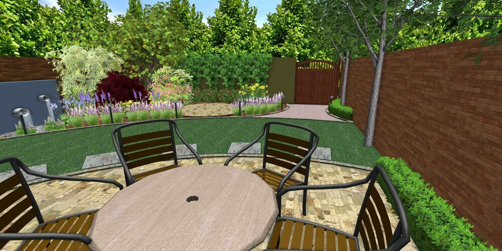 small curved garden kent