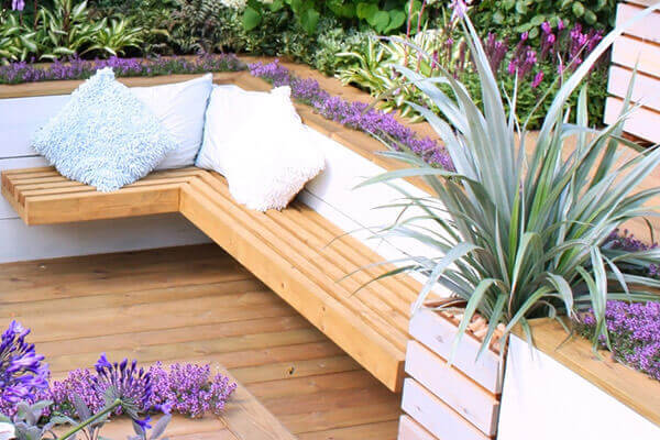 roof terrace garden design in London