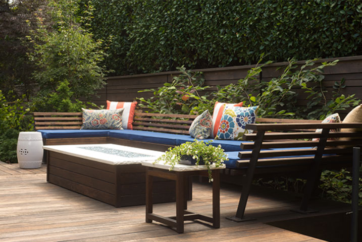 decked garden designers in London