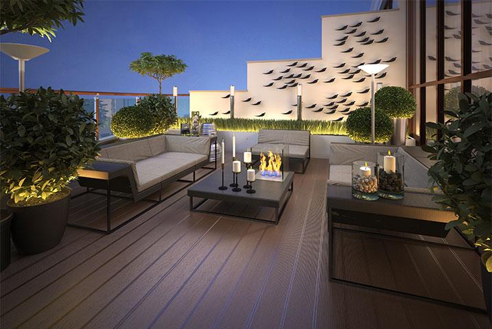 elegant roof gardens designers