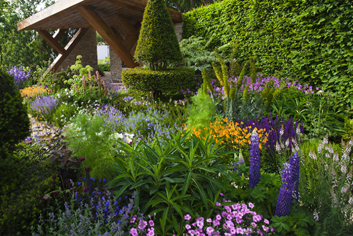 large Chelsea garden design
