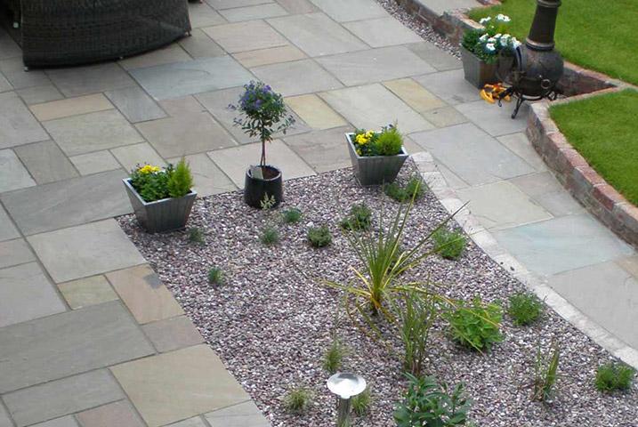 large circular garden design