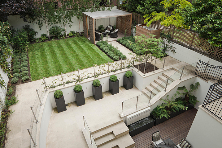 large contemporary garden