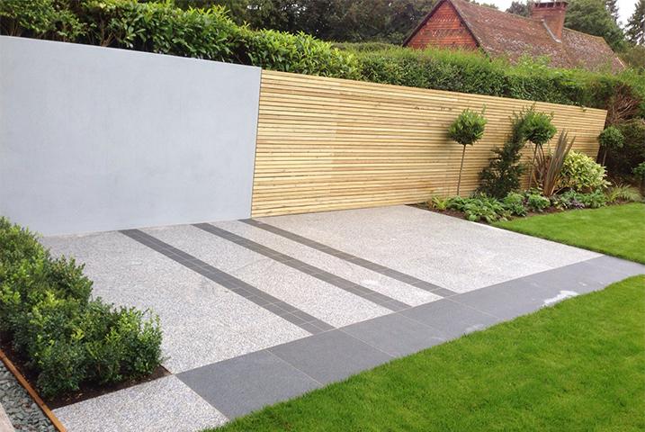 large granite garden