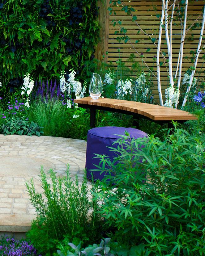 best modern white gardens