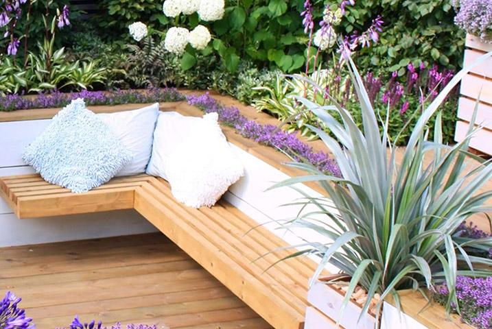 small urban garden transformed