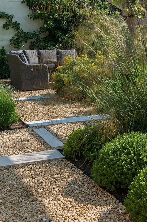 soft feathery garden paving