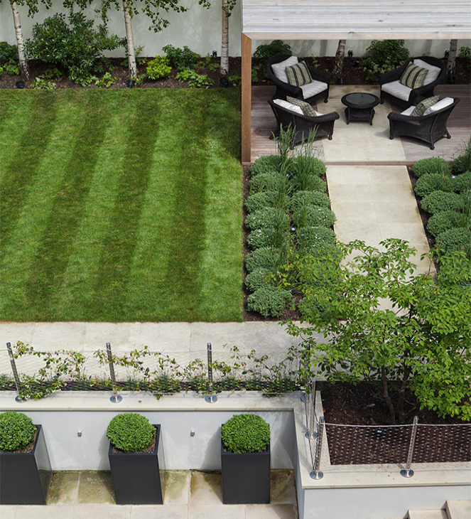 square garden design