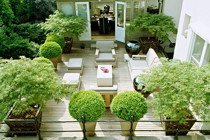 structured roof gardens