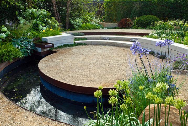 Surrey medium garden designs