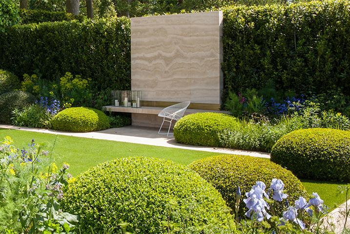 Modern topiary garden design